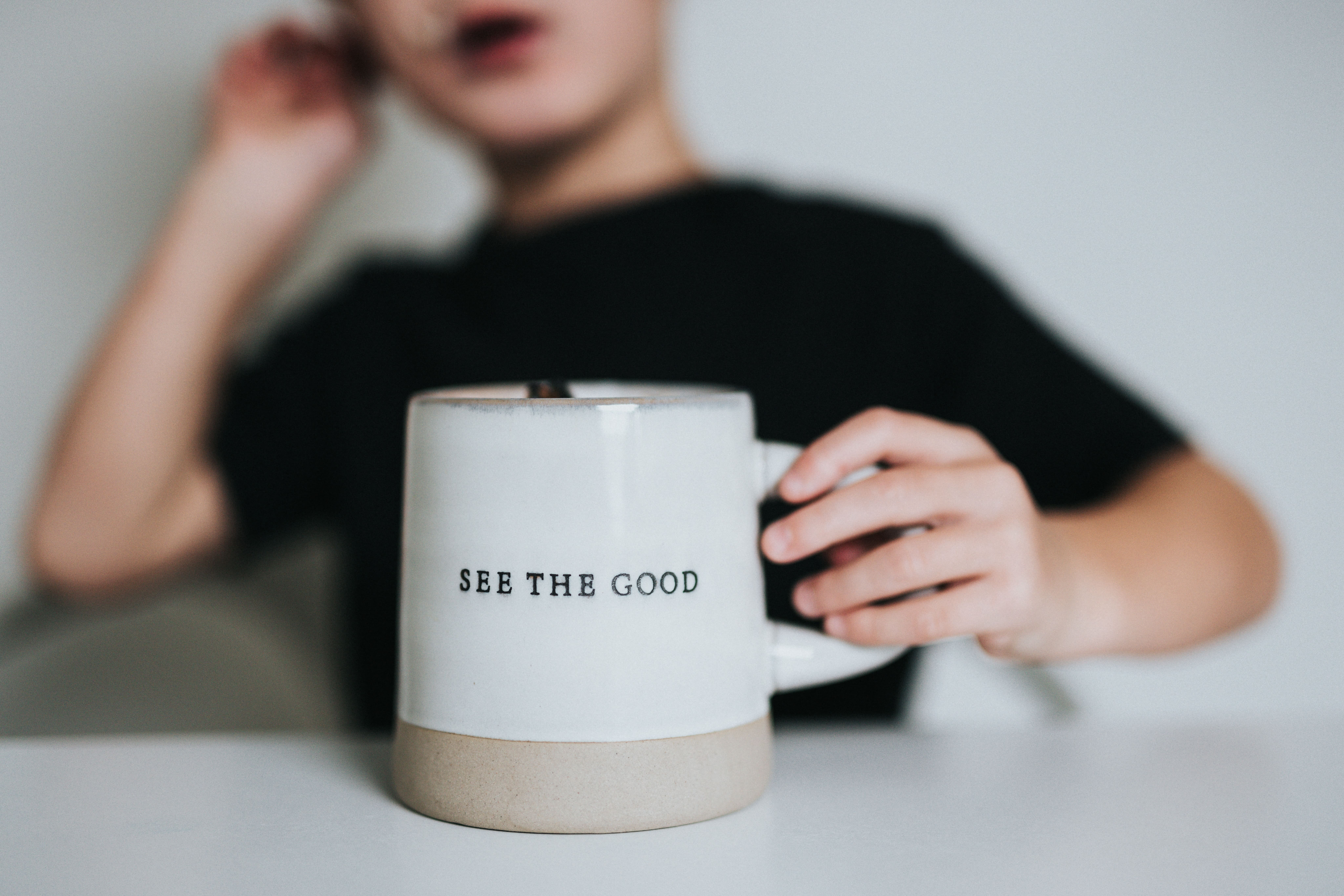 Mug with words See the Good - positive focus