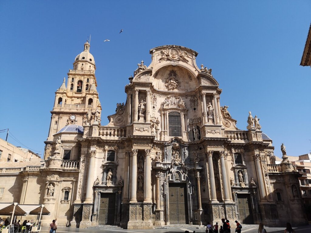 Murcia Cathedral Spain and blue sky