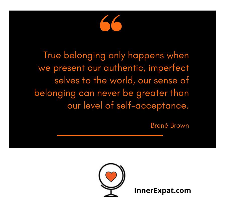 Brene Brown belong quote