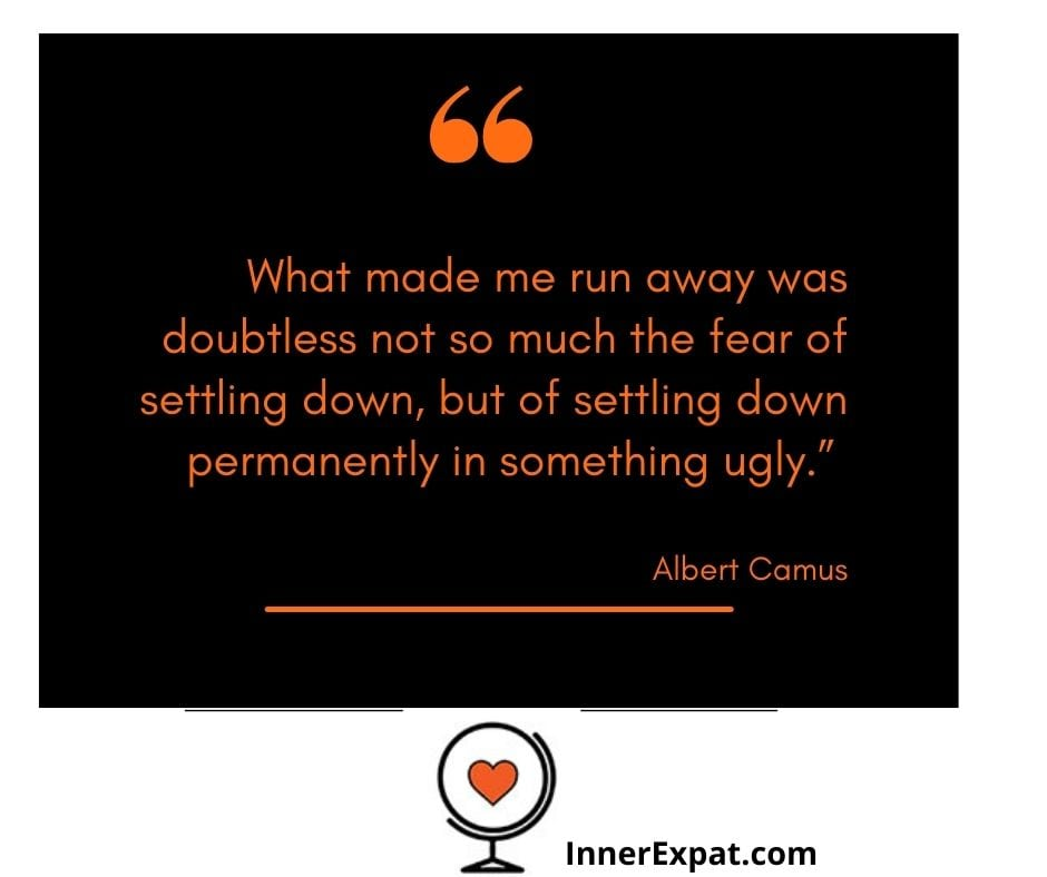 settling down quote